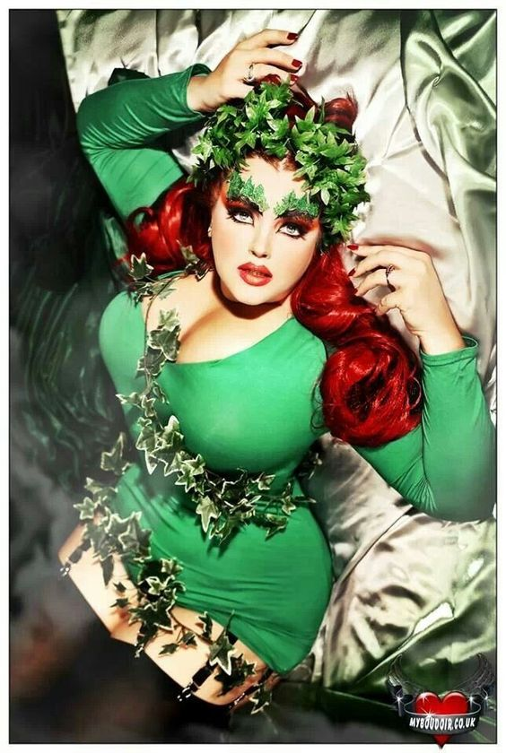 Poison Ivy Plus Size Costume Miz Cooks Top 5 Halloween Costumes Curvy Style-Curvy Ventures Ft Lauderdale