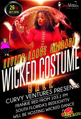 2019 Wicked Costume Ball Chicago IL hosted by Curvy Ventures Plus Size Entertainment